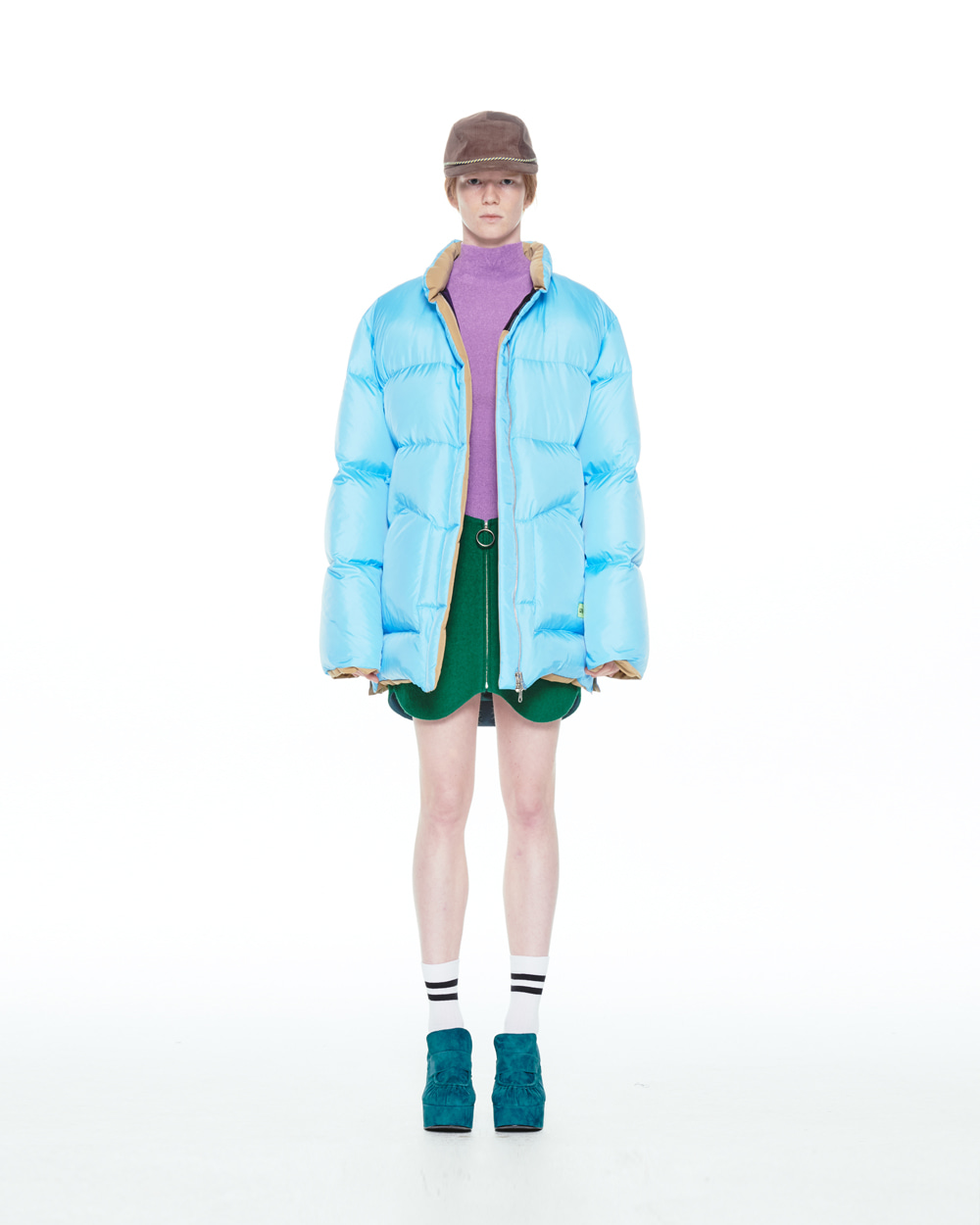 FW20 REVERSIBLE PUFFER BLUE JACKET