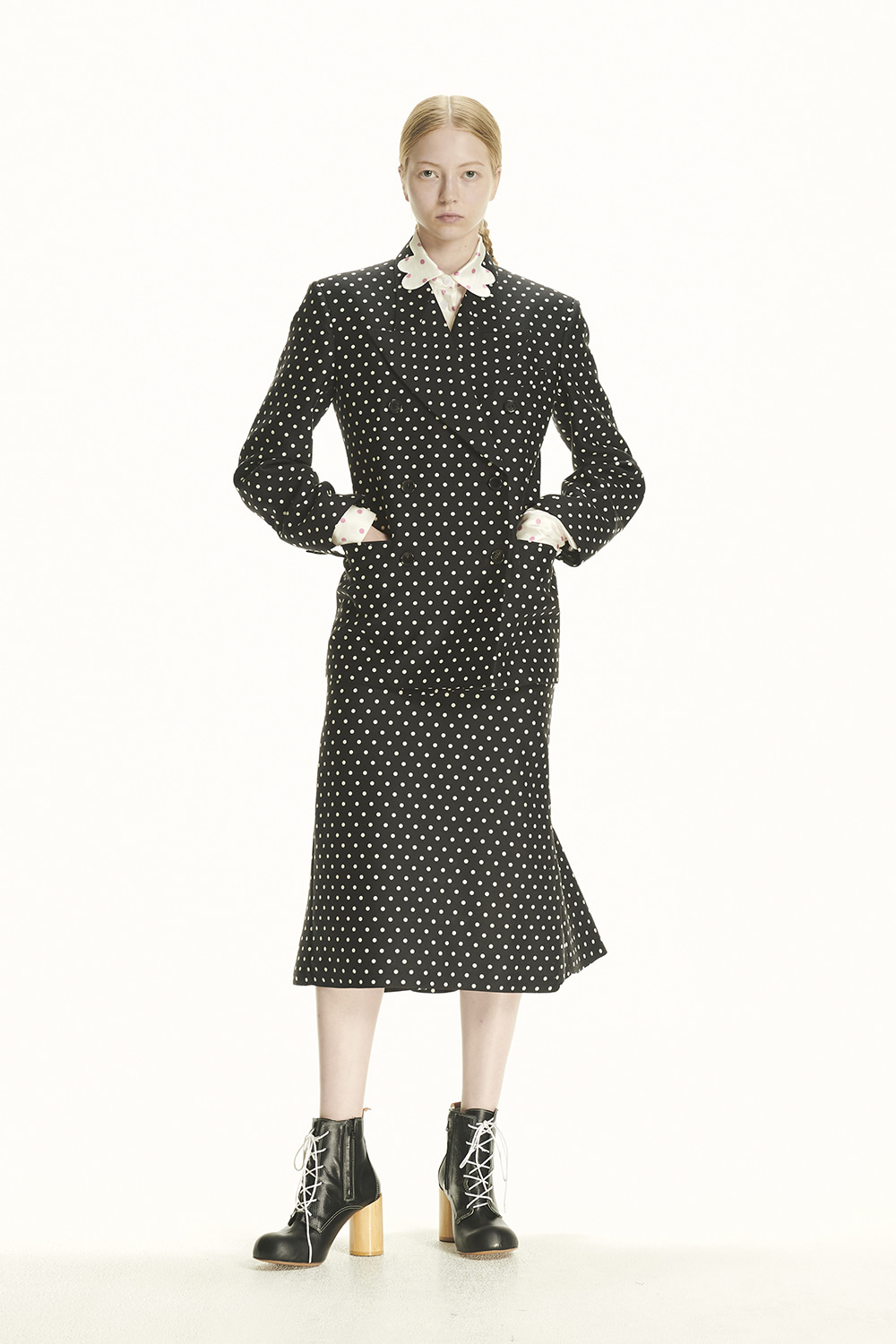 PS21 STRUCTURED DOUBLE POLKA JACKET