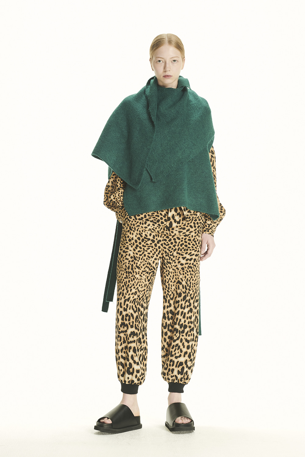 PS21 SCARF COMBI GREEN KNIT VEST