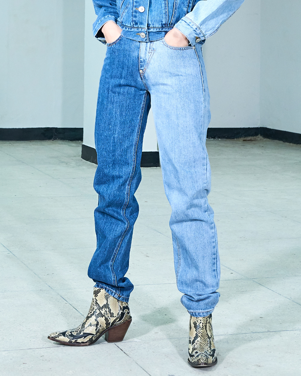 PF19 COLORATION-LEG JEANS