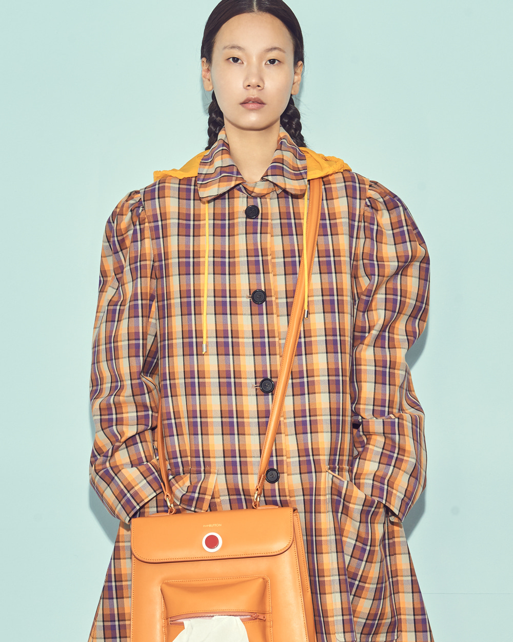 FW19 CHECK SINGLE COAT