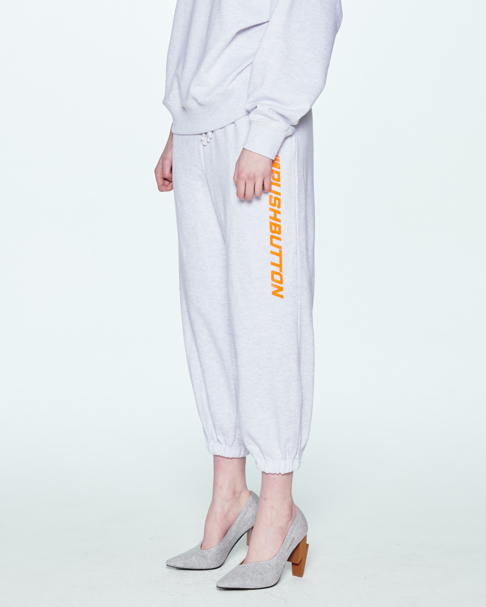 SS20 ROLLED POINT GREY SWEAT PANTS