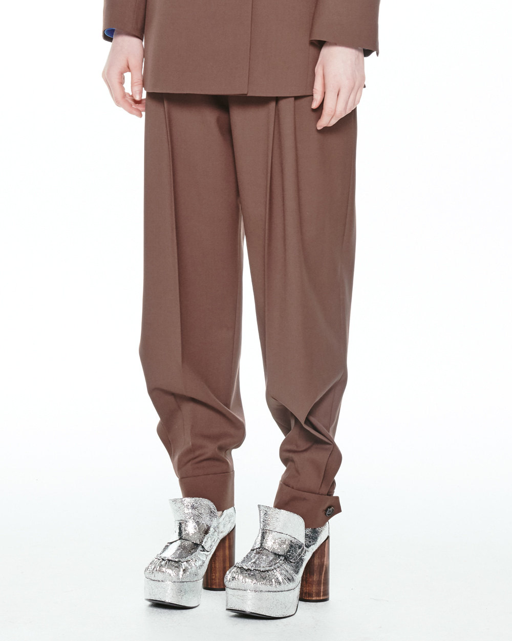 FW20 HI RISE TAILORED BUTTON TROUSERS