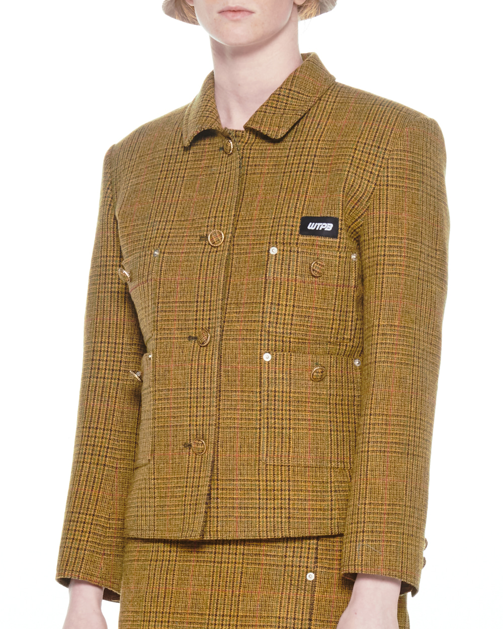 FW20 WOOL SHORT CHECK JACKET