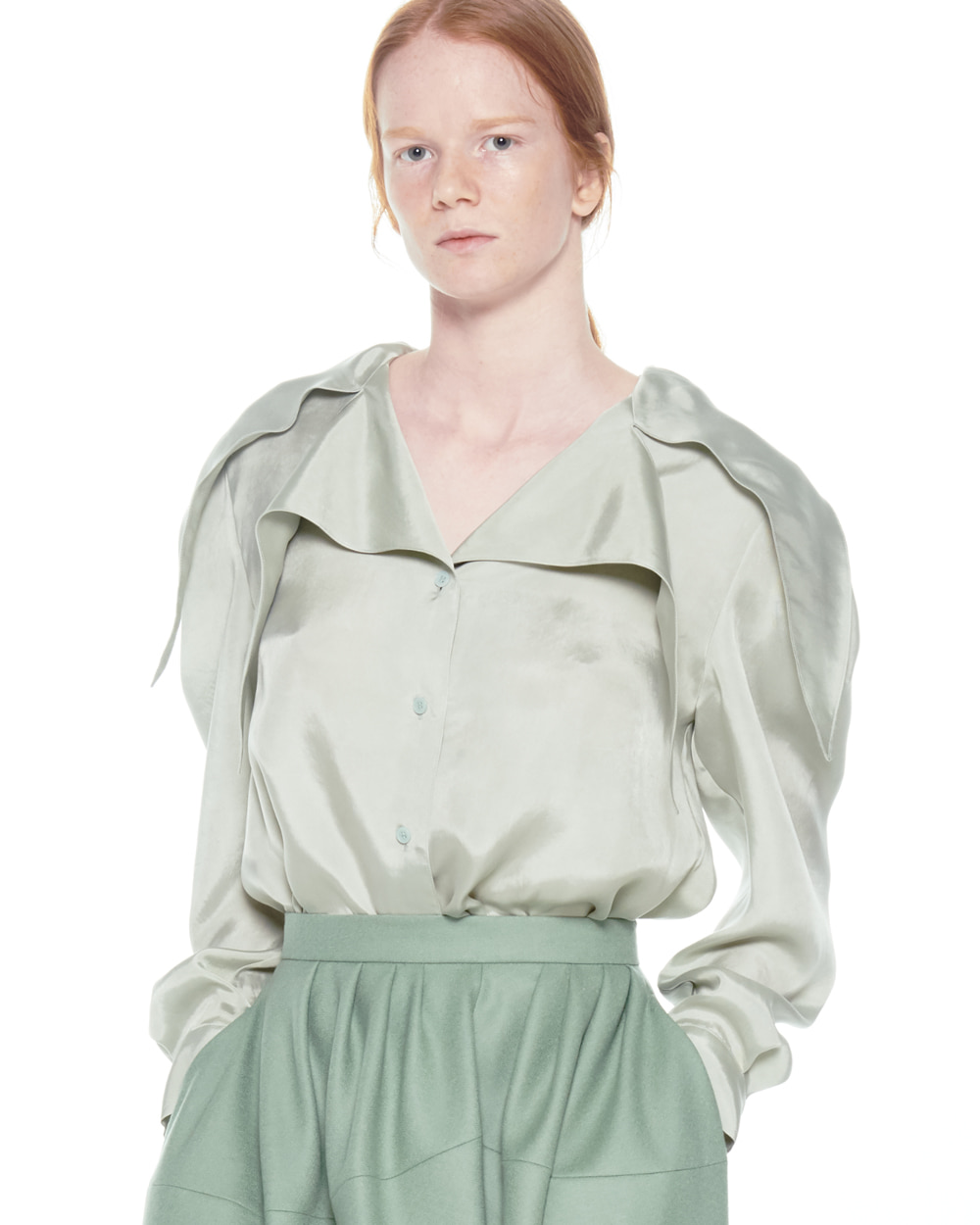 FW20 DOUBLE POINTY COLLAR BLOUSE
