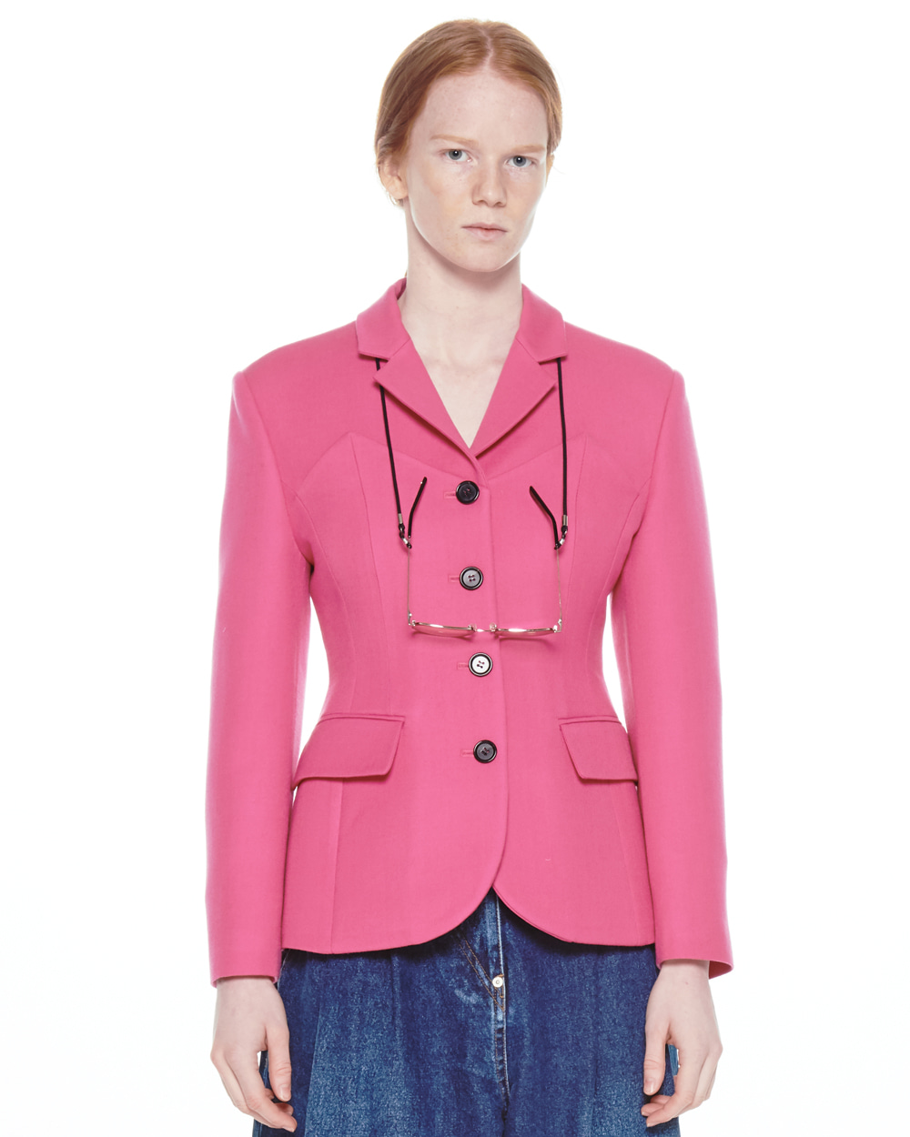 FW20 BUSTIER CURVE PINK JACKET