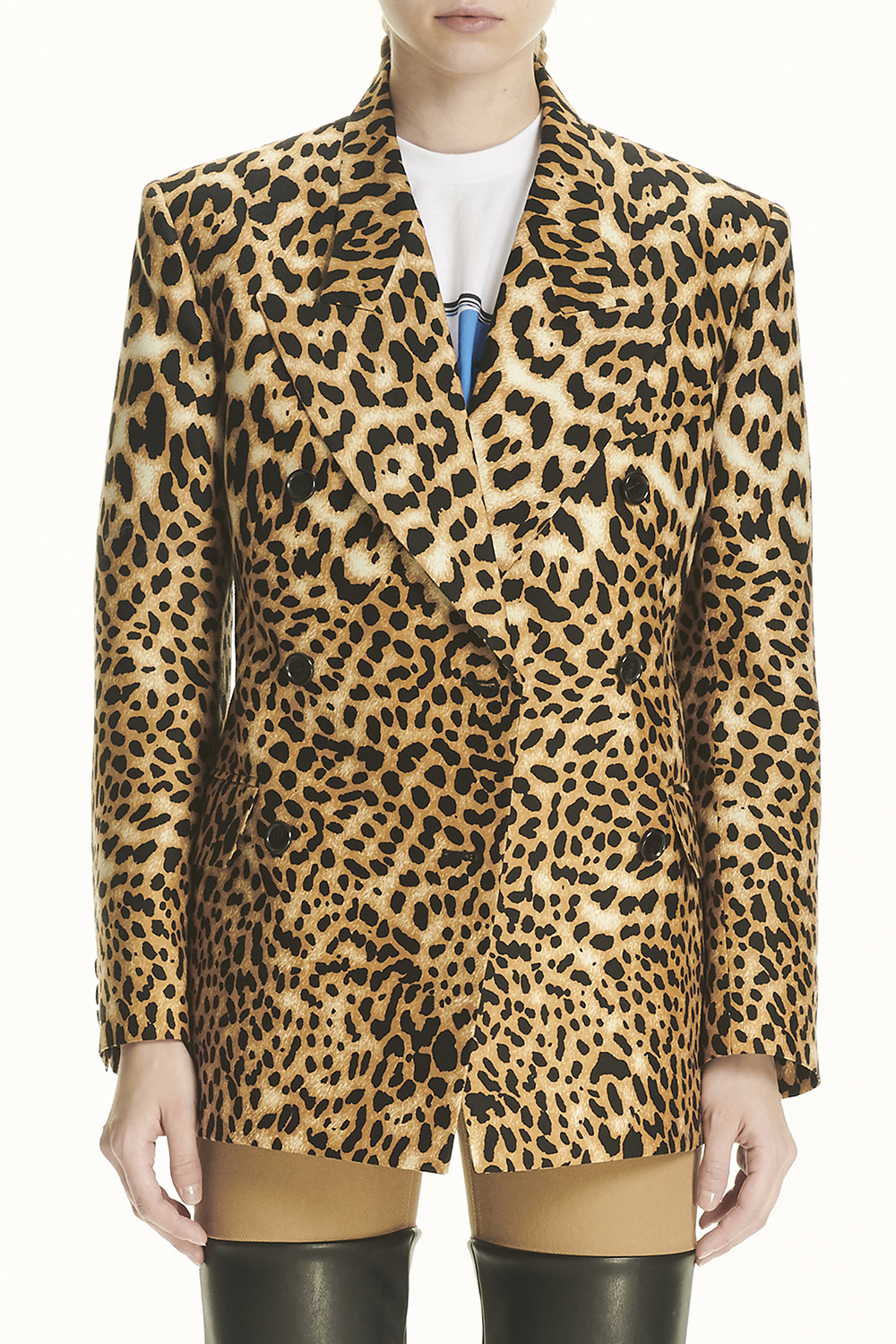 PS21 STRUCTURED DOUBLE LEOPARD JACKET